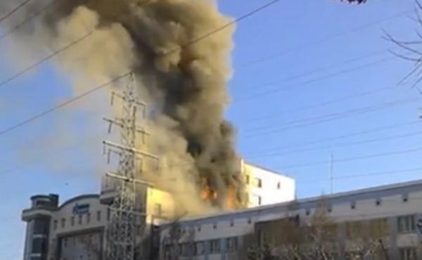 Шо опять? В Томске горит офис Газпромнефти (ФОТО)