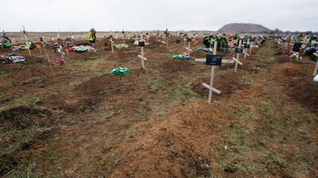 """В Моспино оккупанты тайком прикопали сотню неопознанных трупов """"ихтамнетов"""""""