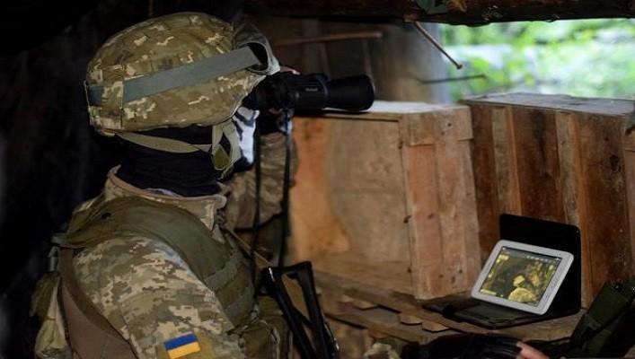 Під Маріуполем українські бійці знищили опорний пункт бойовиків (ВІДЕО)