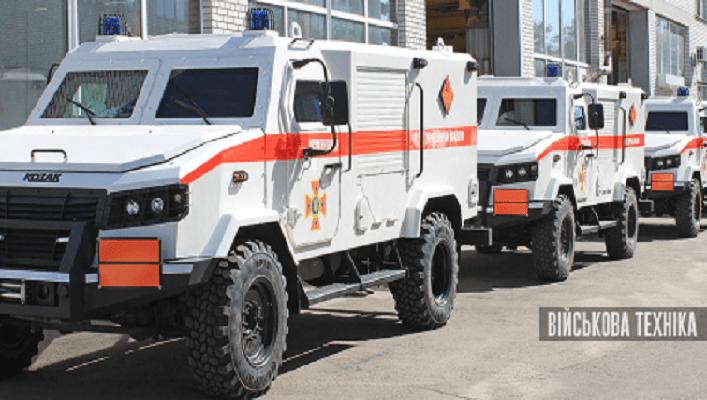 НВО «Практика» передала ДСНС вісім піротехнічних машин на базі бронеавтомобіля «Козак-5»