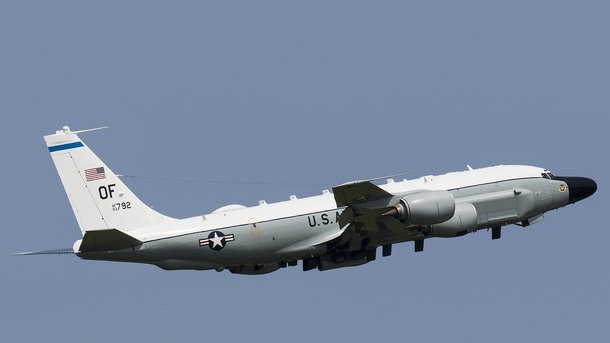 Військовий літак США направився в акваторію Чорного моря
