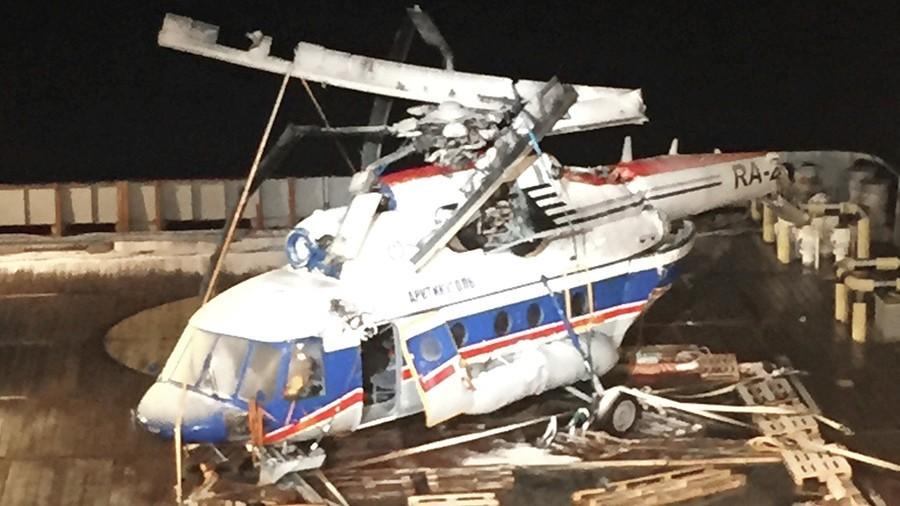 В России упал очередной вертолет. Пилот погиб.